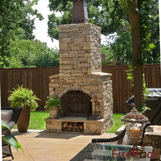outdoor fireplace traditional patio birmingham by firerock