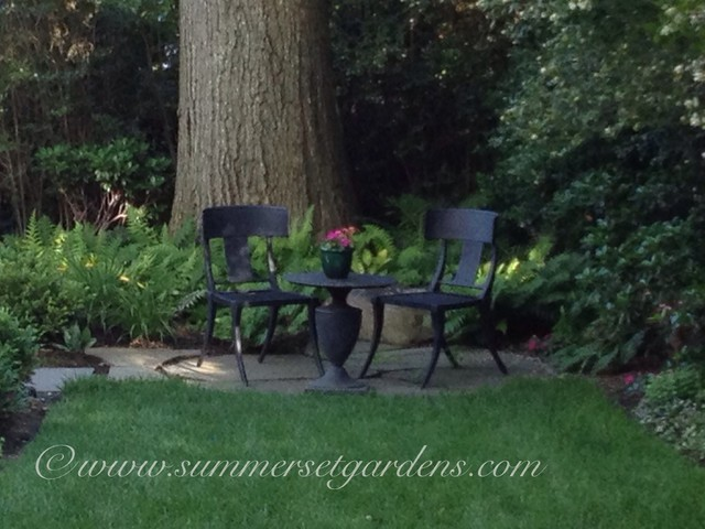 A Small Rustic Sitting Nook Traditional Patio New