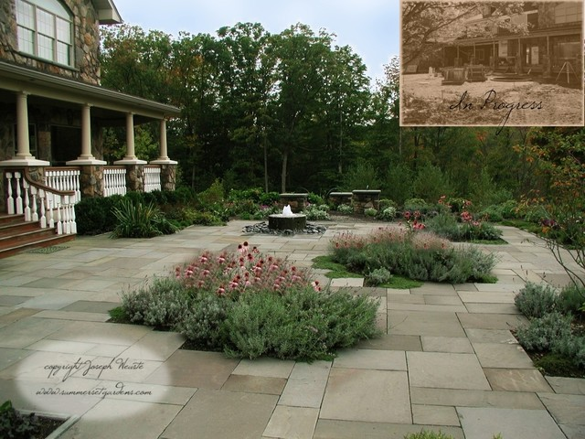 Front entry court yard traditional patio newark by for Houzz landscape architects