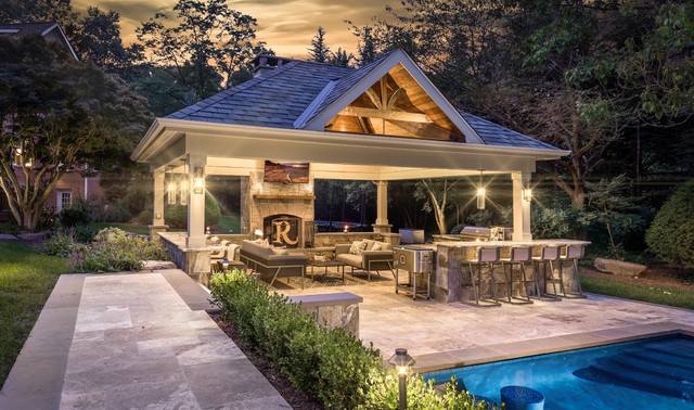 Traditional Style Outdoor Living Space - Traditional ... on Houzz Outdoor Living Spaces id=20120