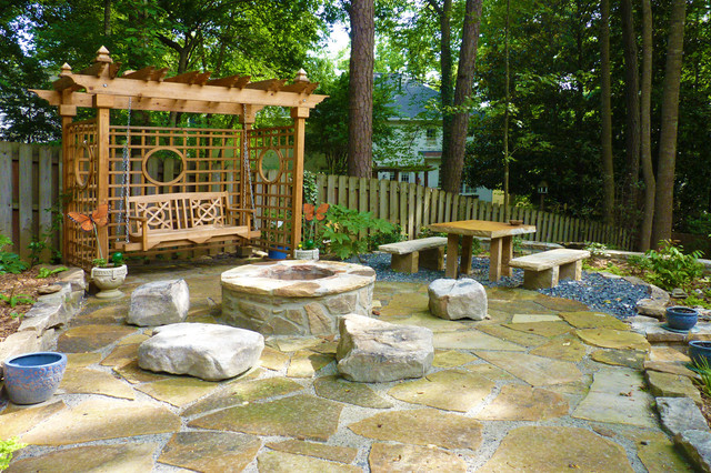 Outdoor Retreat by Outdoor Makeover transitional-patio