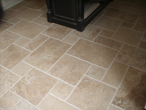 Travertine french pattern tiles for Carrelage opus romain