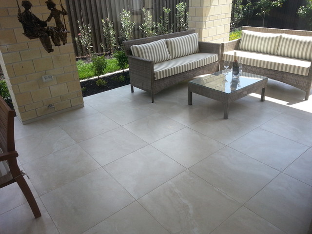 Travertino Porcelain Tile Collection - Tropical - Patio ...