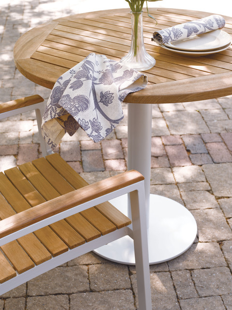 Travira Bistro Teak Table on Patio Contemporary Patio louisville by O