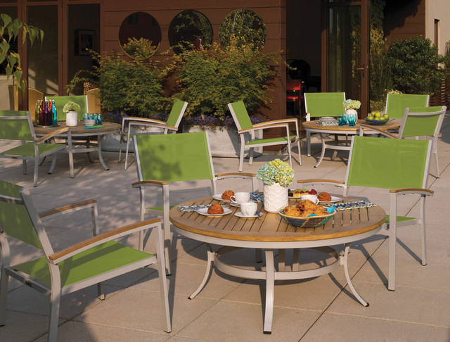 Travira Cafe Set on Patio Patio Louisville by Oxford Garden