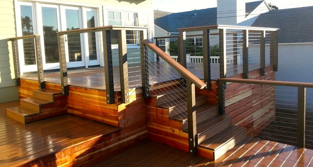 Trex And Cable Rail Beach Style Patio