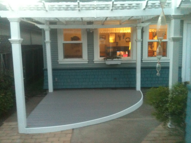 Gentil Trex Deck With Patio Cover Traditional Patio
