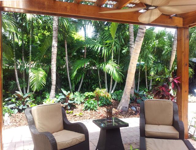Tropical Paradise   Backyard Makeover Tropical Patio
