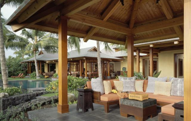 Tropical patio - Tropical outdoor kitchen designs ...