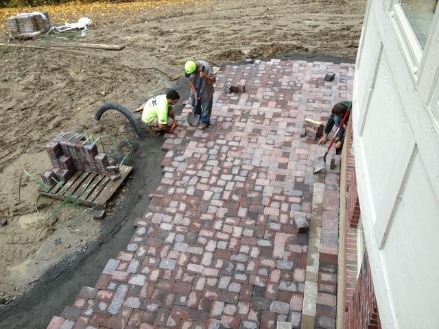 Troy MI Composite deck & Brick patio traditional-patio