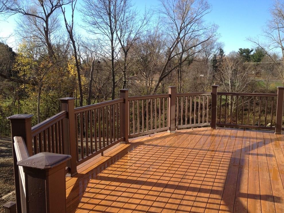 Troy MI Composite deck & Brick patio - Traditional - Patio ...