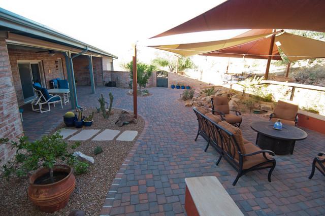 tucson tortoises in the shade southwestern patio