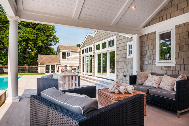 Tulsa Midtown Hamptons Style Renovation Beach Style Patio Oklahoma City