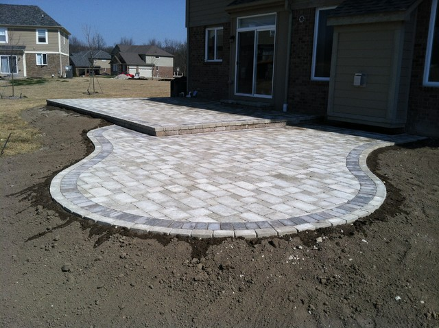Tumbled Paver Patios Traditional Patio