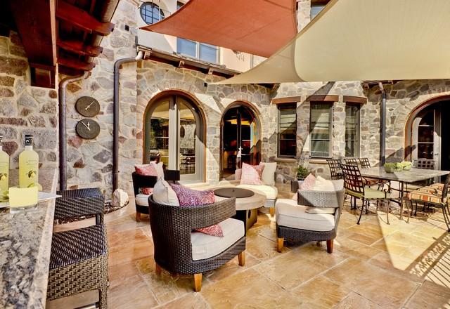 Tuscan Exterior Terrace mediterranean-patio