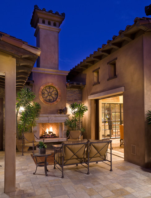 Tuscan farmhouse 4 mediterranean patio orange county for Tuscan roof design