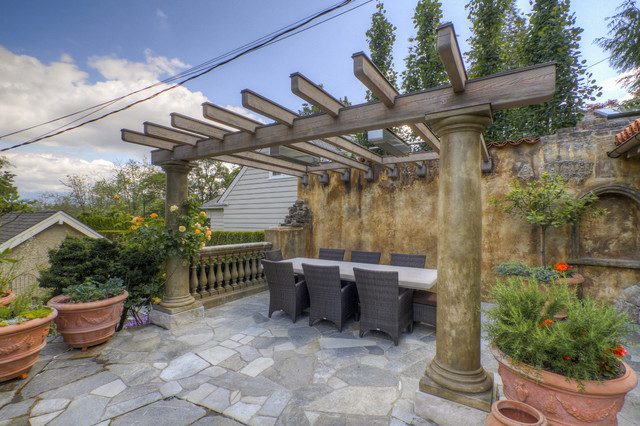 Tuscan Outdoor Kitchen - Mediterranean - Patio - vancouver ...