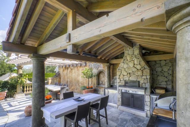 Tuscan Outdoor Kitchen - Mediterranean - Patio - vancouver ...