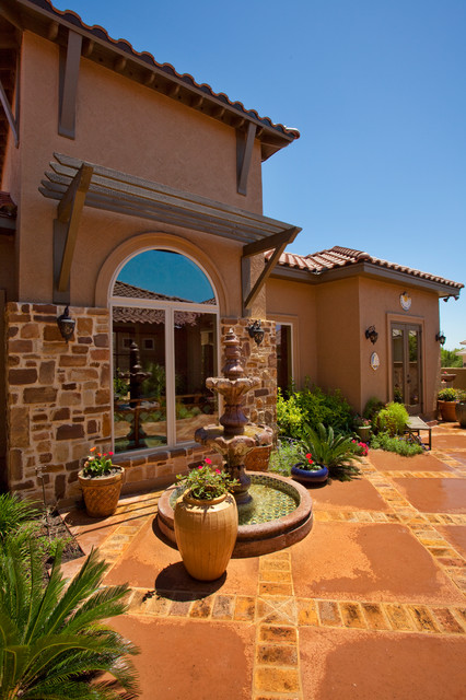 Tuscan Style Home By Jim Boles Custom Homes Mediterranean Patio