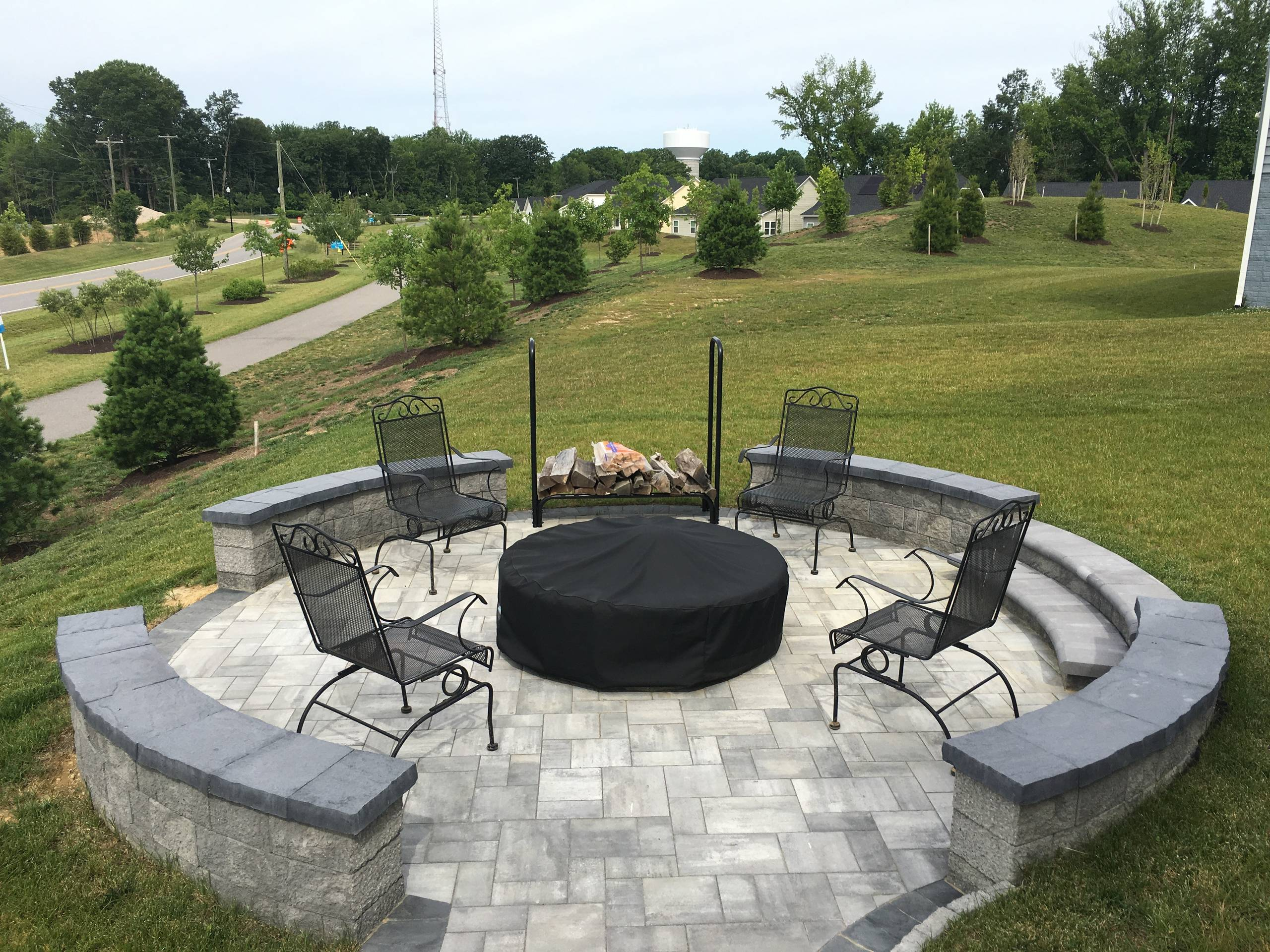 Two Rivers Custom Hillside Firepit