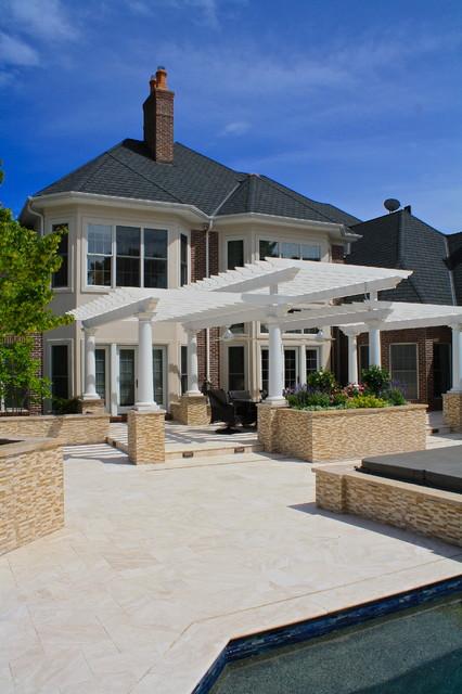 Two Tier Pergola traditional-patio