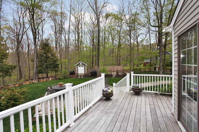 typical 1970's Colonial remodeld traditional-patio
