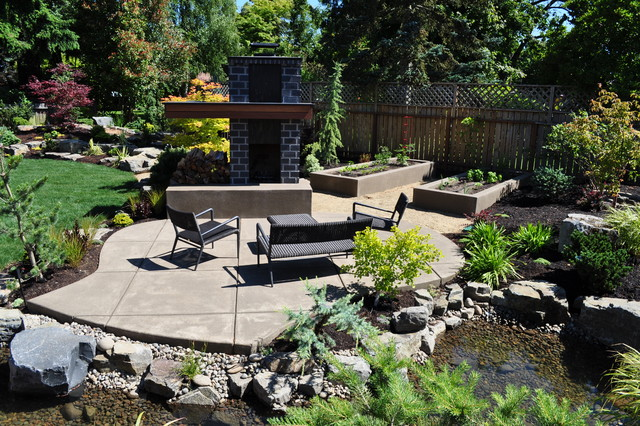 Ultimate luxury contemporary patio other by fifth for Ultimate landscape design