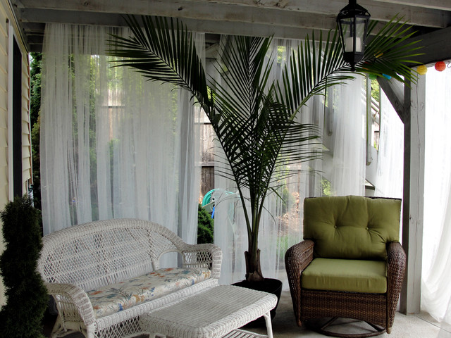 Under Deck Cabana Seating Area Tropical Patio