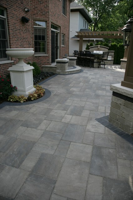 Unilock brick pavers for Garden decking jewsons