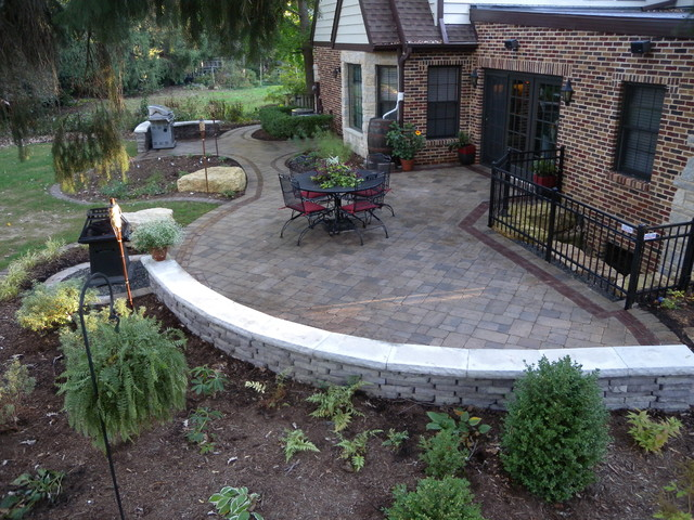 Wonderful Unilock Paver Patio Traditional Patio