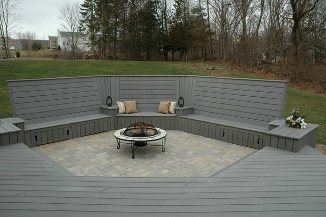 Unique Deck And Patio Combination Design In Middletown Ct Traditional Patio Other By
