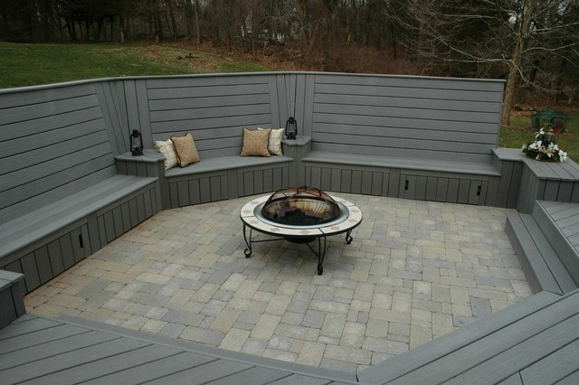 Unique Deck And Patio Combination Design In Middletown Ct Traditional Patio Other Metro