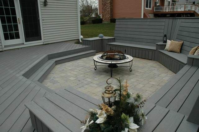 Unique deck and patio combination design in Middletown, CT ...