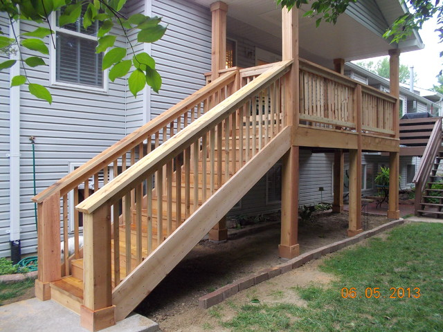 Update deck with roof traditional-patio
