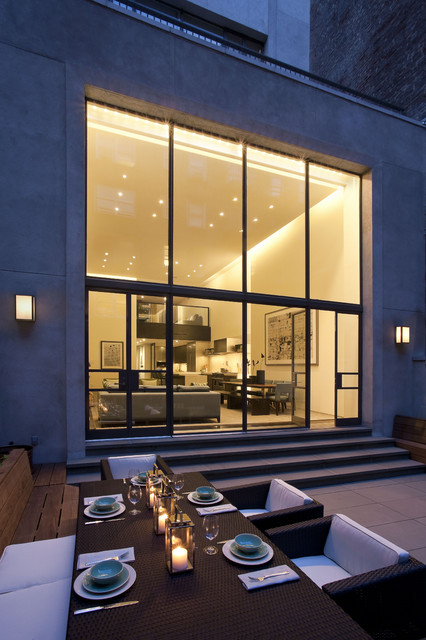Upper East Side Carriage House contemporary-patio
