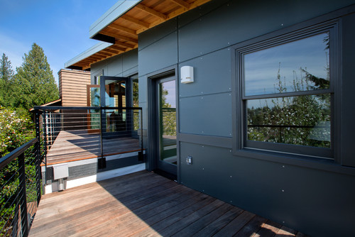 What material is the siding you 39 re using thanks for Modern home exterior materials