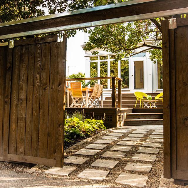 Urban - 'Dreamwood' back court garden space contemporary-patio