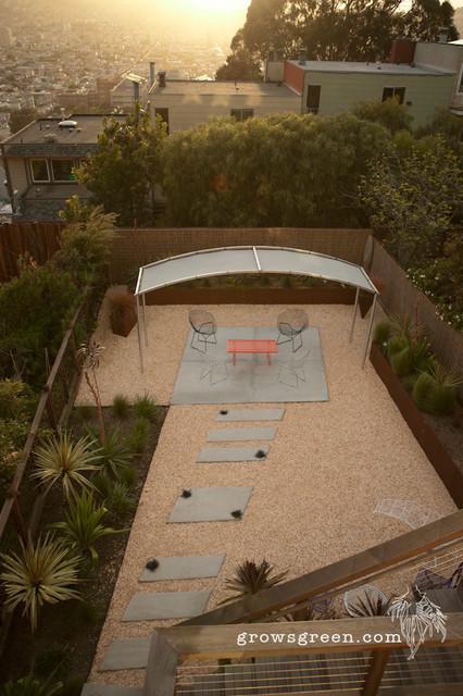 Urban Gravel Garden Contemporary Patio San Francisco