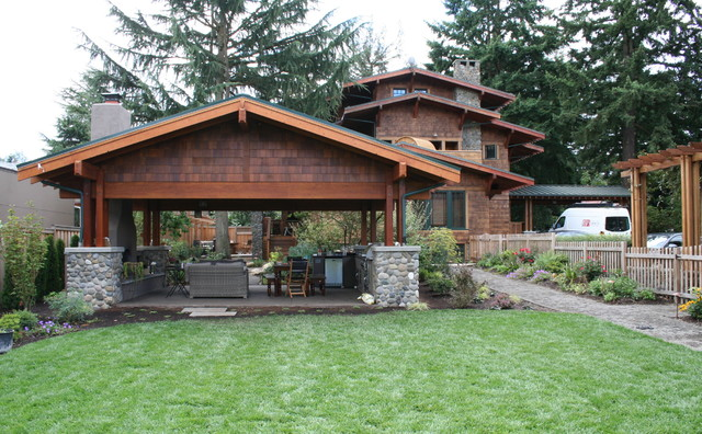 Visionscapes NW Landscape Design · Landscape Architects U0026 Landscape  Designers. Urban Homestead Craftsman Patio