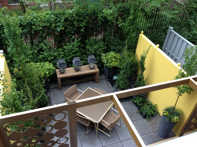 Urban Oasis a city courtyard garden Eclectic Patio