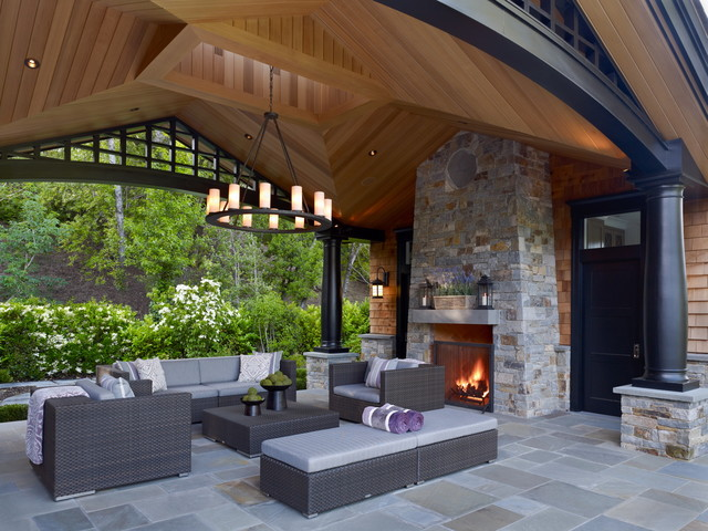 traditional patio by Polsky Perlstein Architects