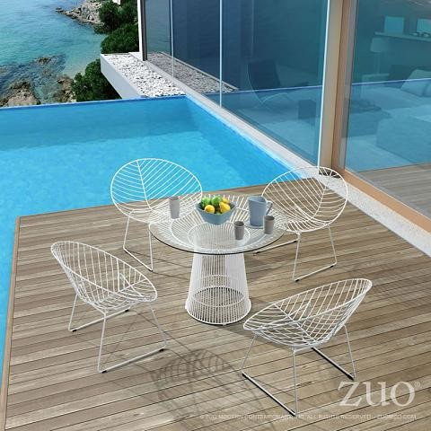 Using Acrylic And Wire Frame Furniture To Preserve An Outdoor View Modern Patio