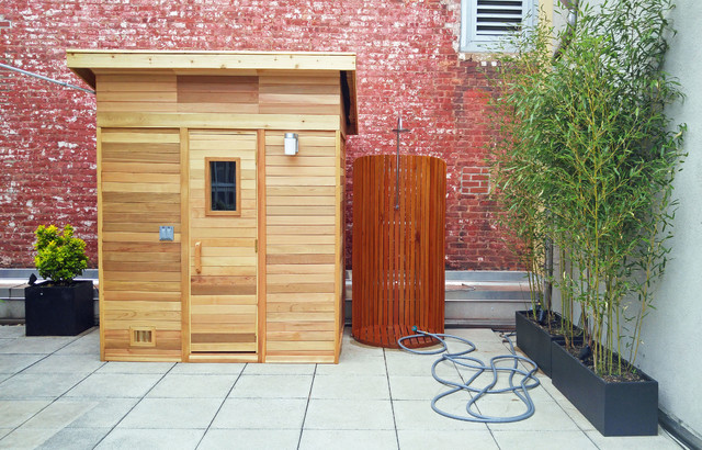 UWS Roof Garden With Sauna And Outdoor Shower Contemporary Patio