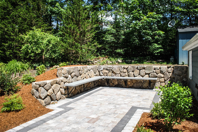 Patio Stone Walls : Various wall projects