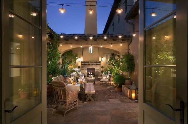 阳台彩色细节美式风格装潢设计图片