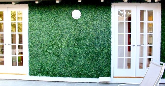 Vertical Garden Wall Artificial Hedge Panels Modern Patio