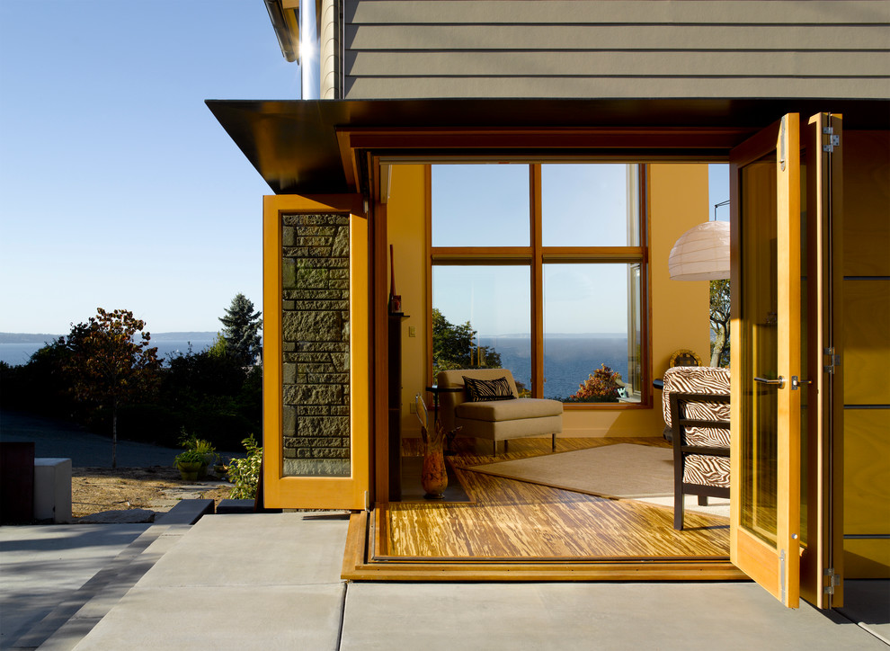 Patio - modern patio idea in Seattle with no cover