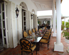 Villa Mille Fleurs, St. Martin, French West Indies tropical patio