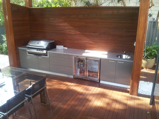 Wahronga bbq area for Outside barbecue area design