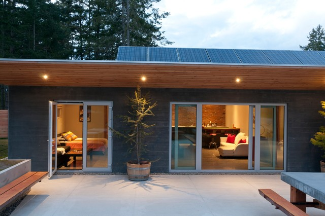 Wain Rd   Pre Cast Insulated Concrete Panel Passive Solar Home Contemporary  Patio